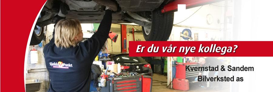 Bilmekaniker søkes til Kvernstad og Sandem Bilverksted